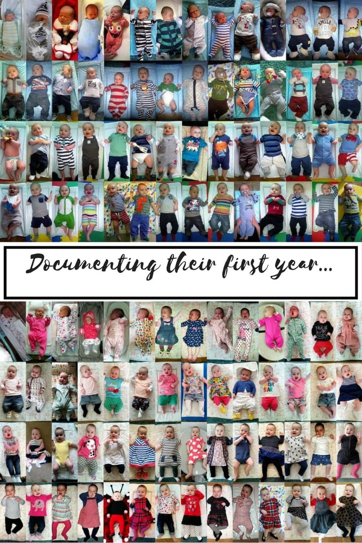 Documenting their first year... A look at how parents can create a photo collage of baby pics. Makes a great keepsakememento for baby's first year.