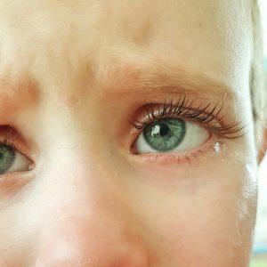 Close up of a sad boy's face