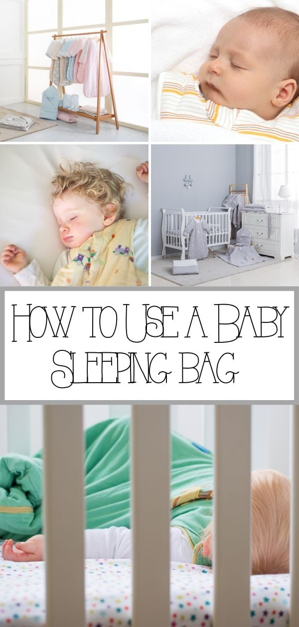 How to use a baby sleeping bag pin