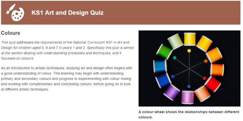 Ks1 Art Educational Quizzes