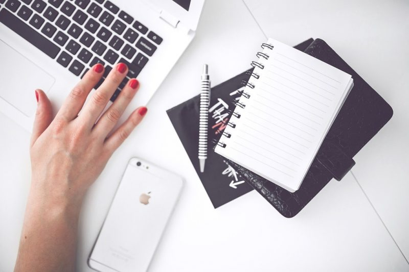 Work with me - blogger and keyboard