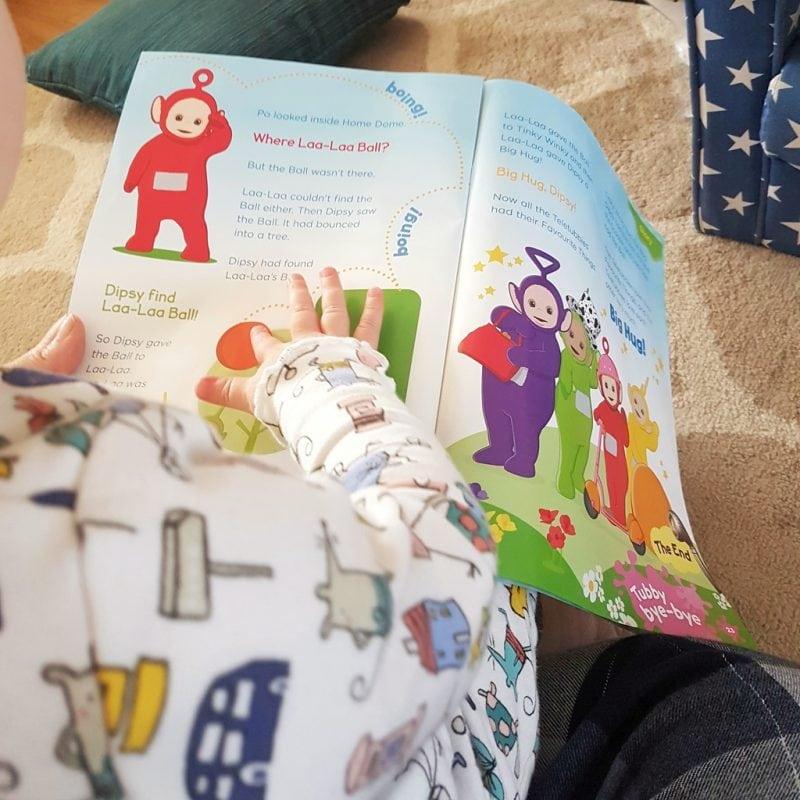Littlest with teletubbies magazine