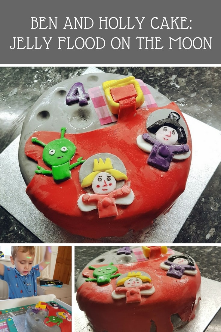 Ben and Holly's Little Kingdom cake - a guide to creating a jelly flood on the moon cake