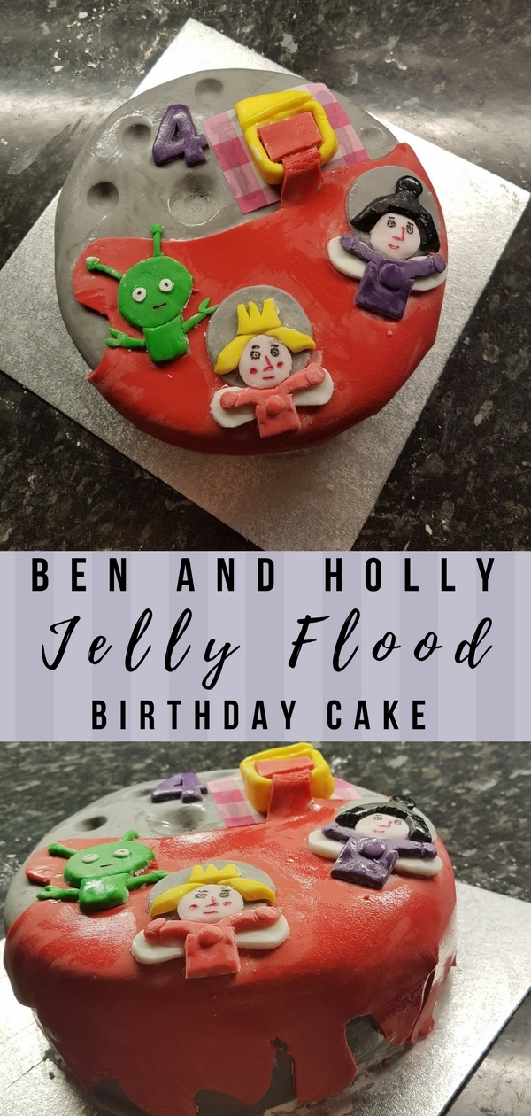 Ben and Holly Birthday Cake - Jelly flood on the moon