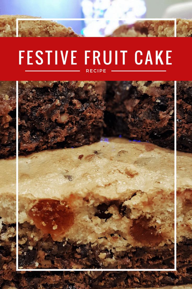 Recipe for Double Decker Festive Fruit Cake
