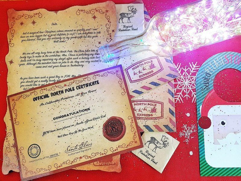 Letter from Santa Magic Santa package