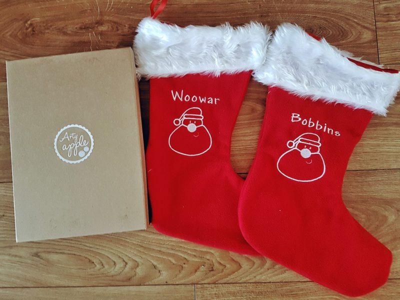 Arty Apple Christmas stockings