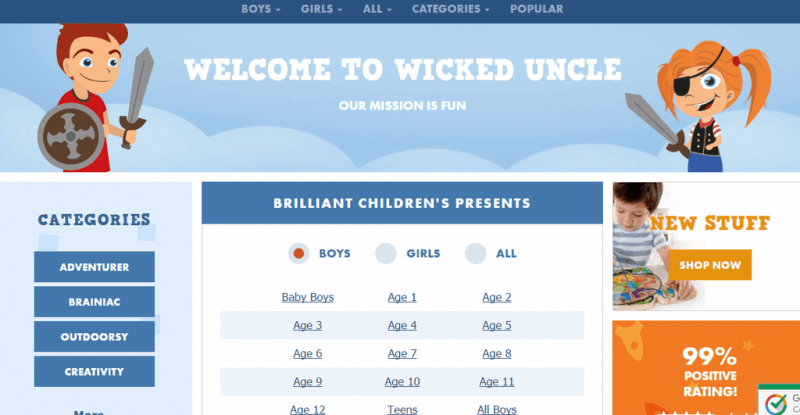 Wicked Uncle Site