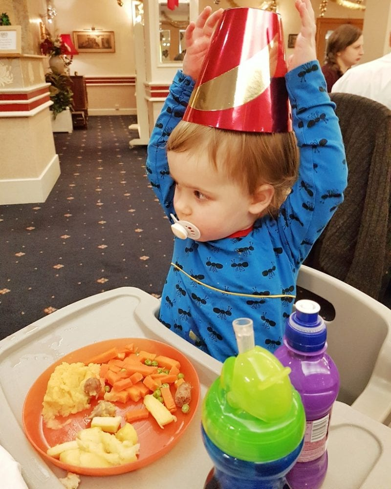 Littlest at Christmas Dinner