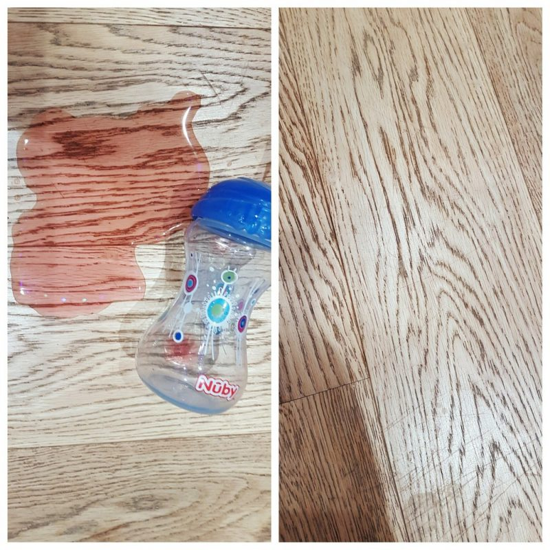 Windomatic spilled drink before and after