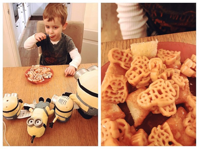 Biggest eating minion spaghetti and making the minions watch