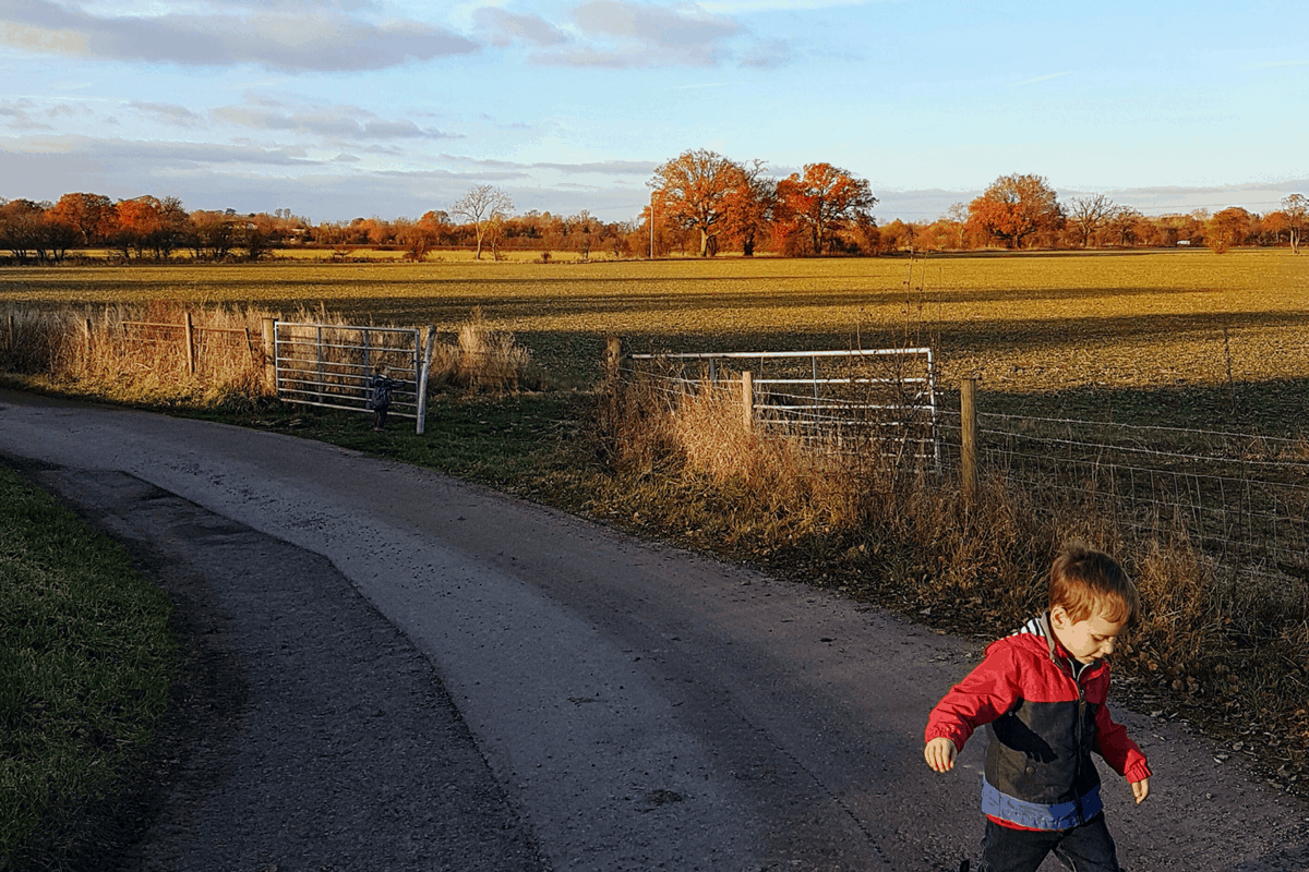 Boy on a path by Someone's Mum