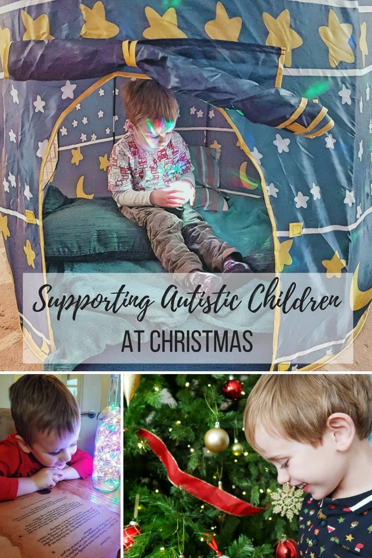 A guide and tips for Supporting Autistic Children at Christmas - some top tips for how parents, friends and relatives can ensure that children with autism feel safe and calm during the Christmas period.