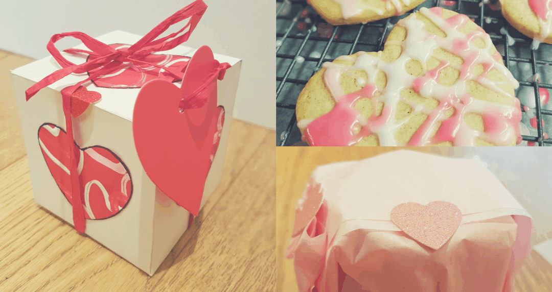 Valentine's Day Heart Cookies and Presentation box