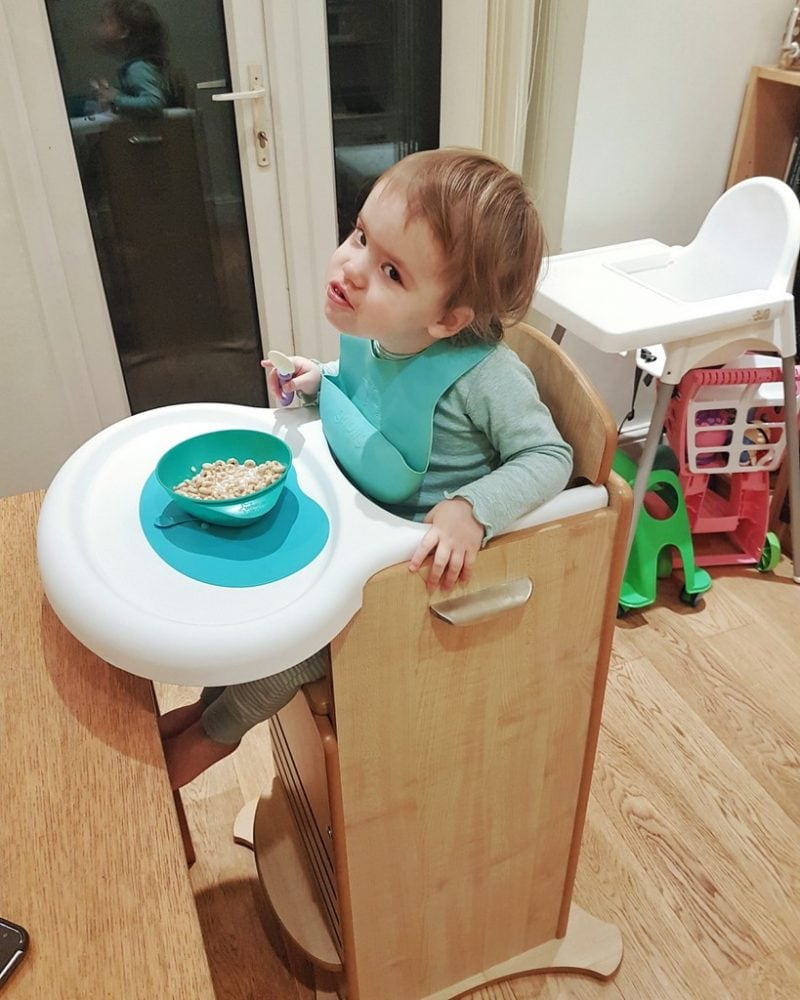 Littlest in the FunPod Highchair
