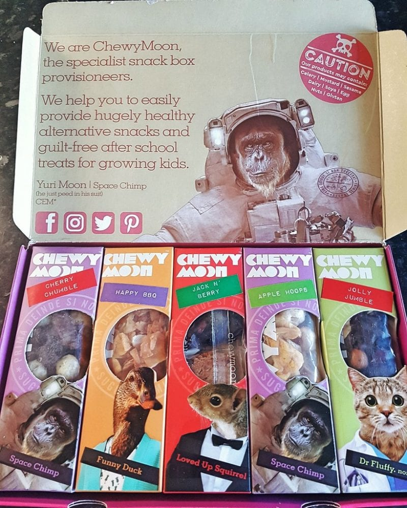 Chewy Moon Snack boxes