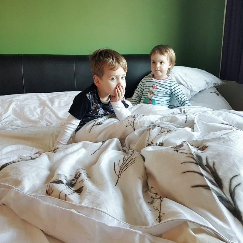 Biggest and Littlest enjoying the Emma mattress