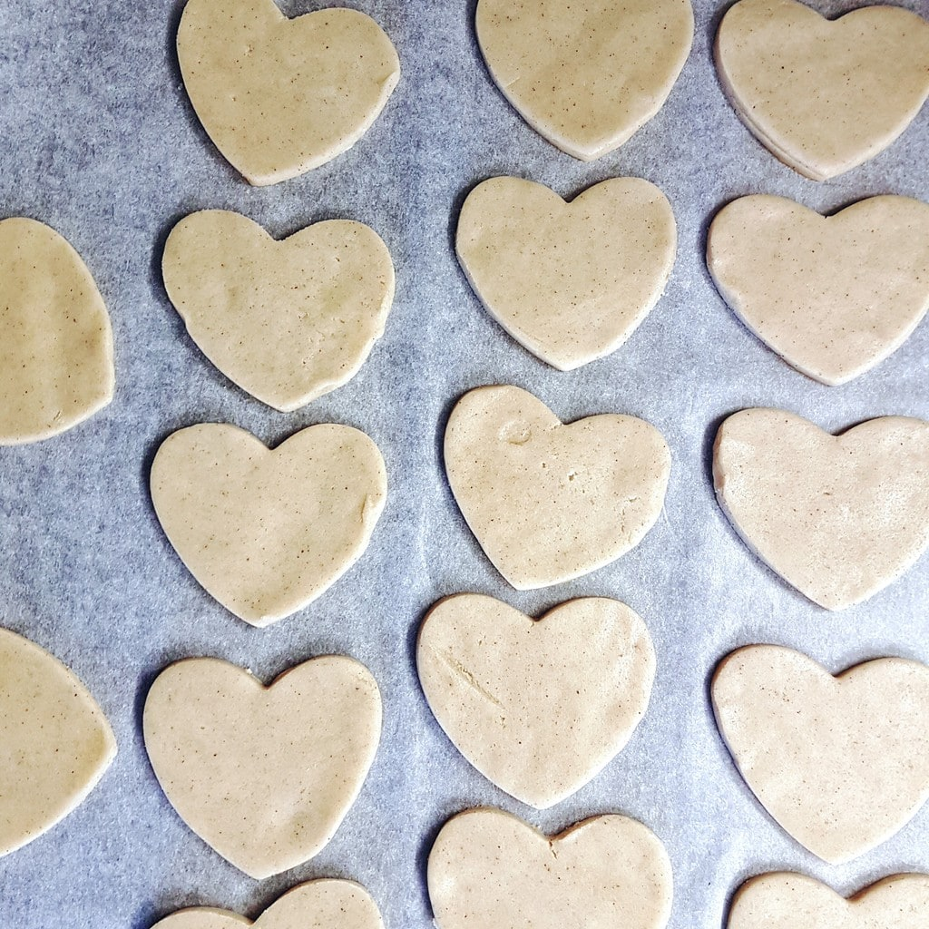 Valentine's Day Cookies before baking