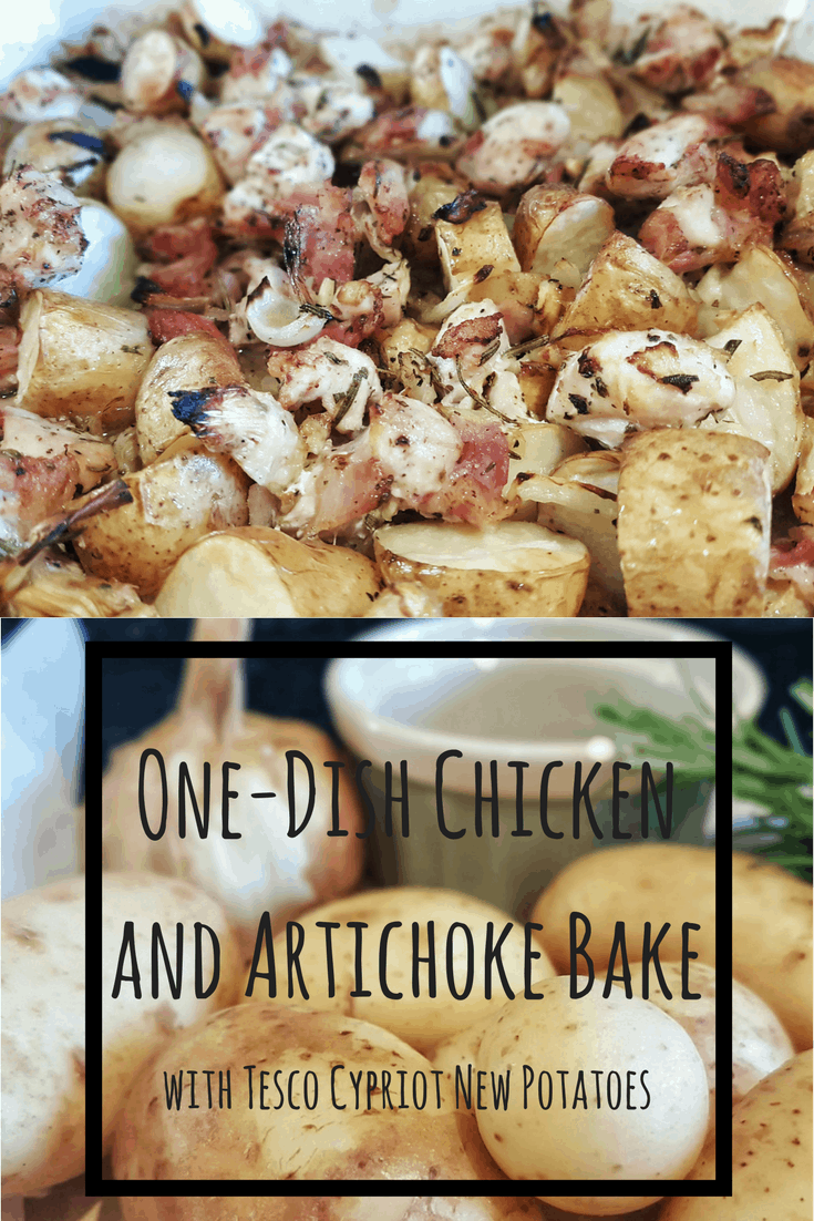 One-Dish Chicken and Artichoke Bake with Tesco Cypriot New Potatoes