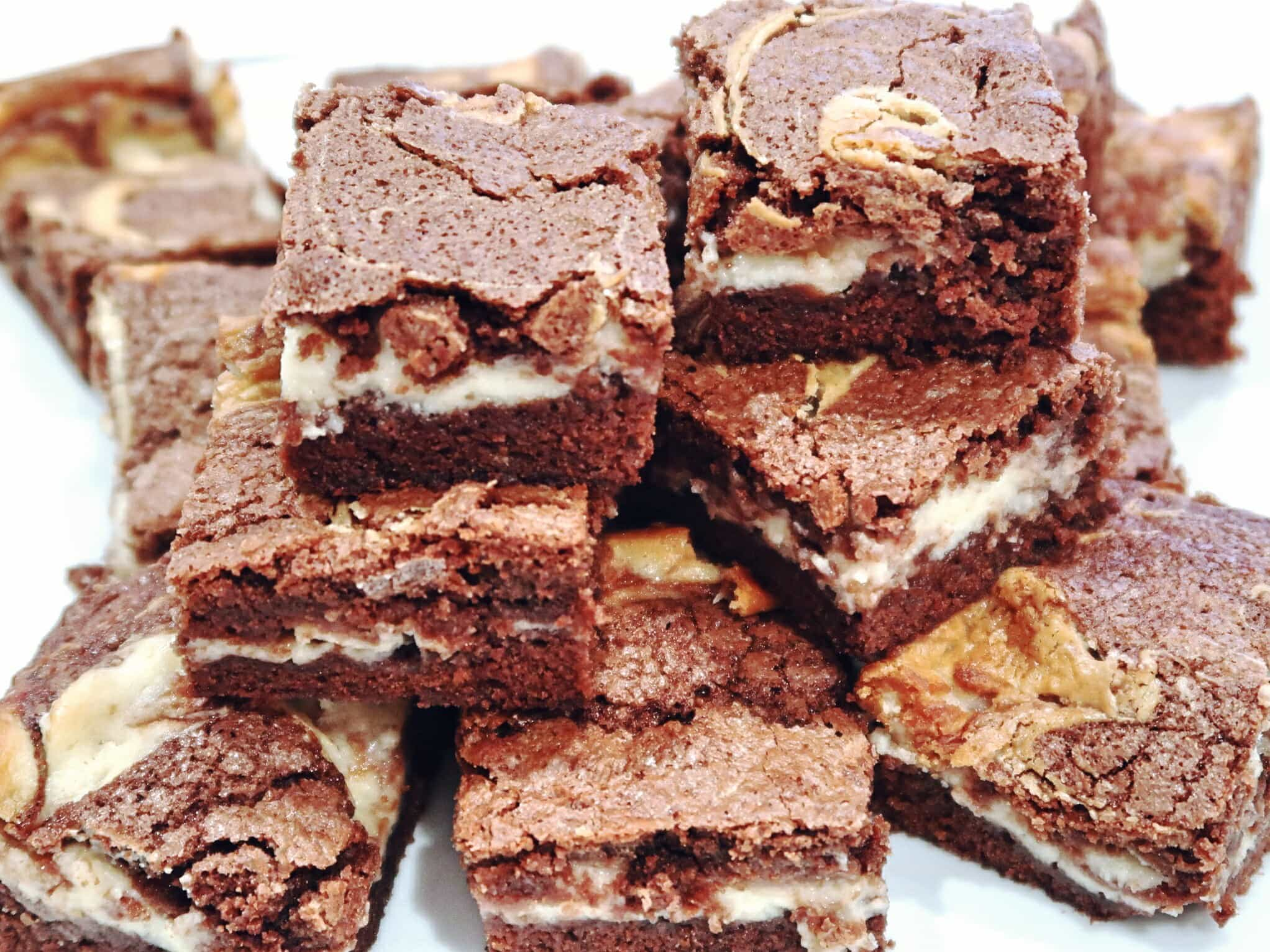 Amaretto and Mascarpone Brownies