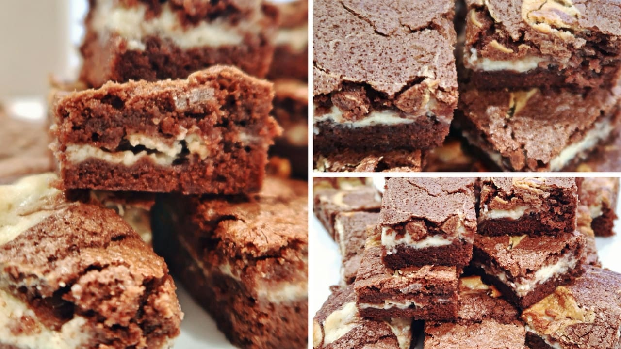 Amaretto and Mascarpone Brownies – Daddy Cooks Food #1