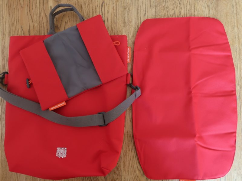 Bag with mat and nappies case