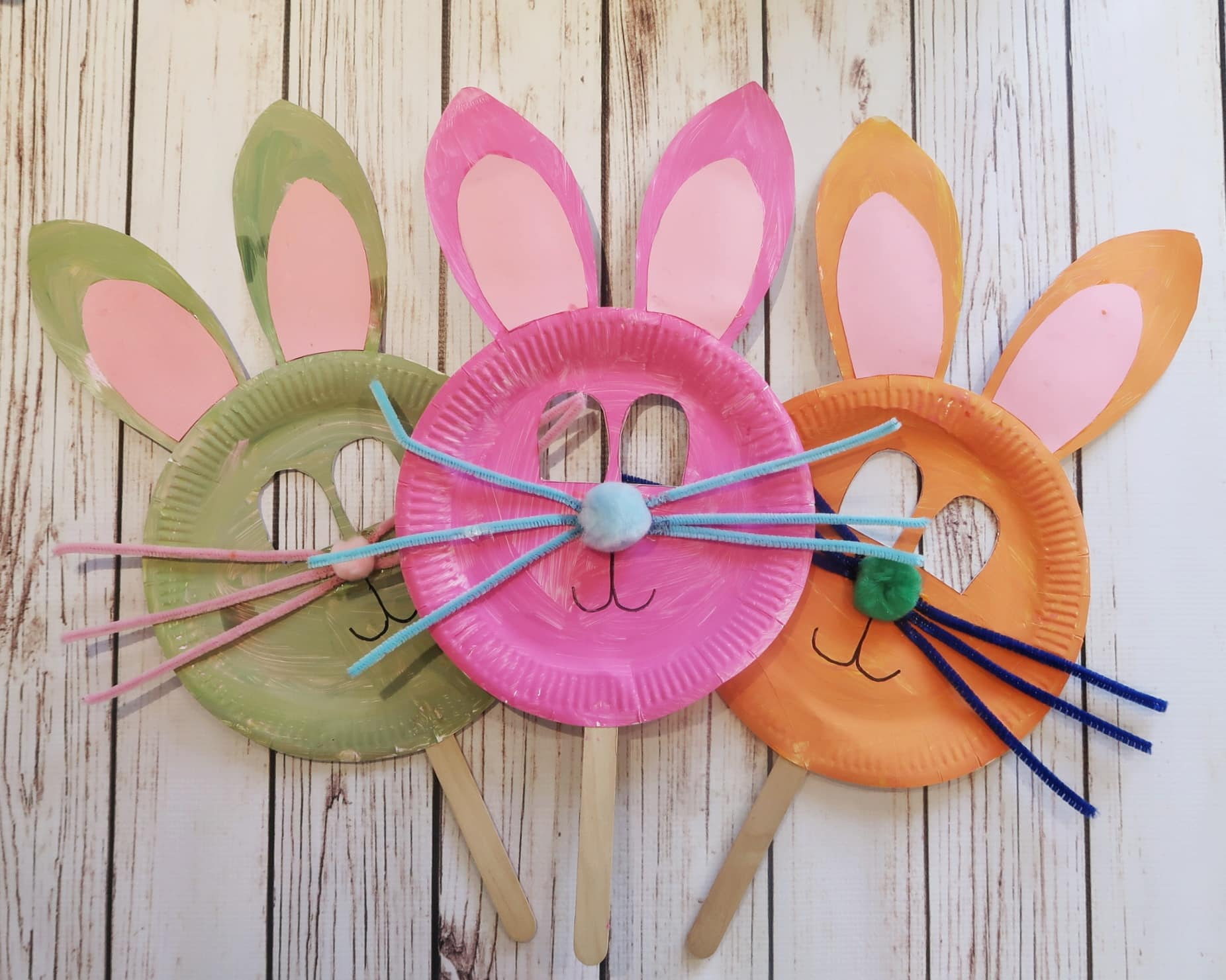 Easter Crafts - Paper Plate Bunny Masks & 3 Easy Easter Crafts with Paper Plates - Someoneu0027s Mum