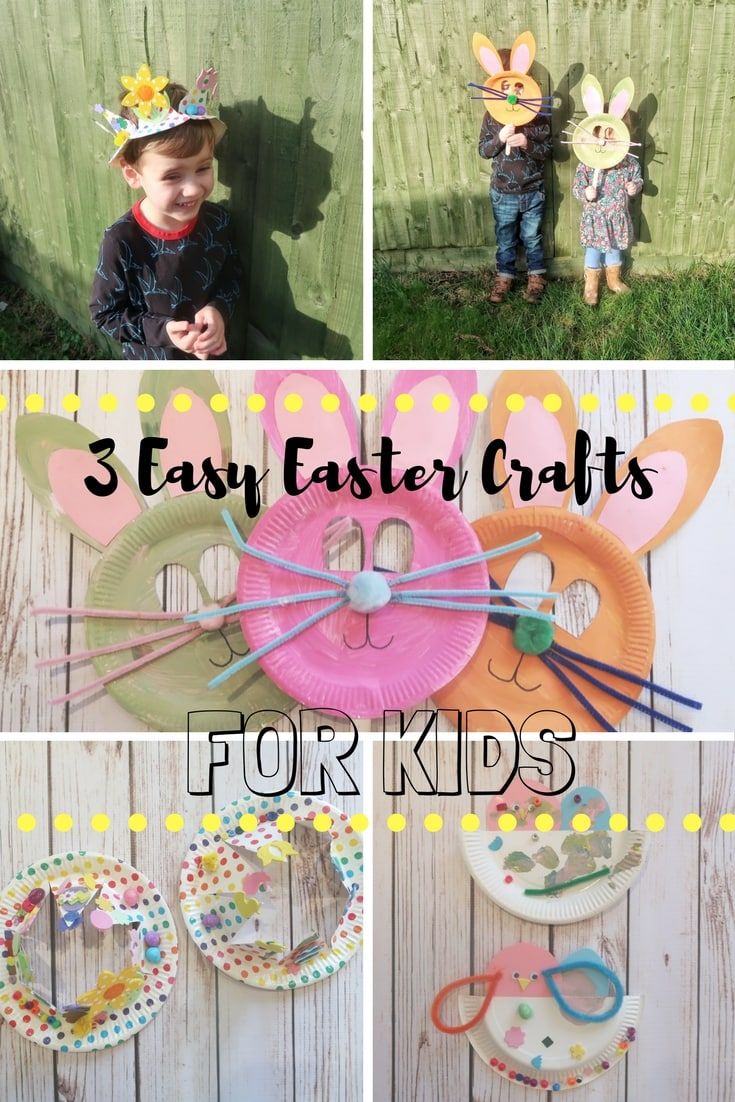 3 Easy Easter Crafts for Kids using paper plates.