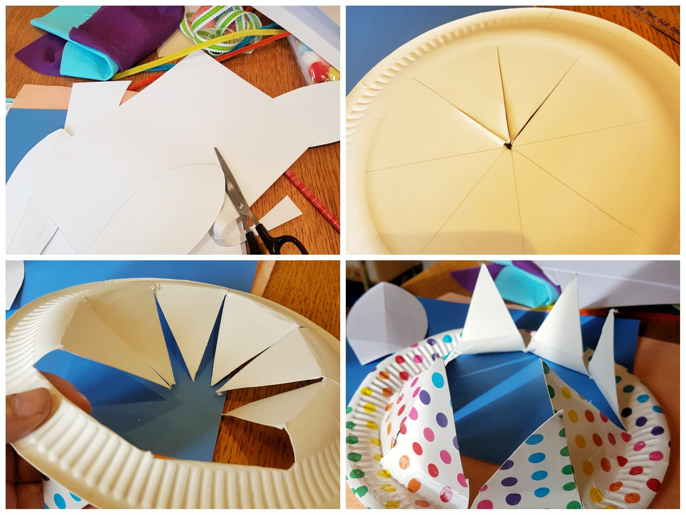 How to prepare you paper plate crown - Easter Crafts