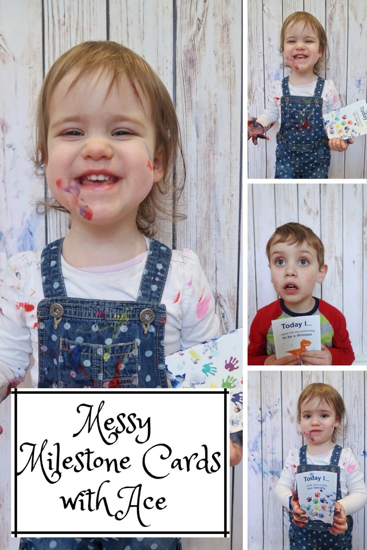 Messy Milestone Cards with Ace Laundry.