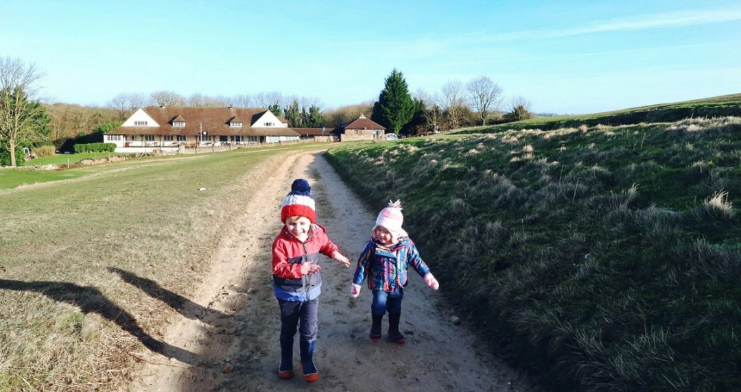 My son is not a problem - Littlest and Biggest having fun on one of our walks.