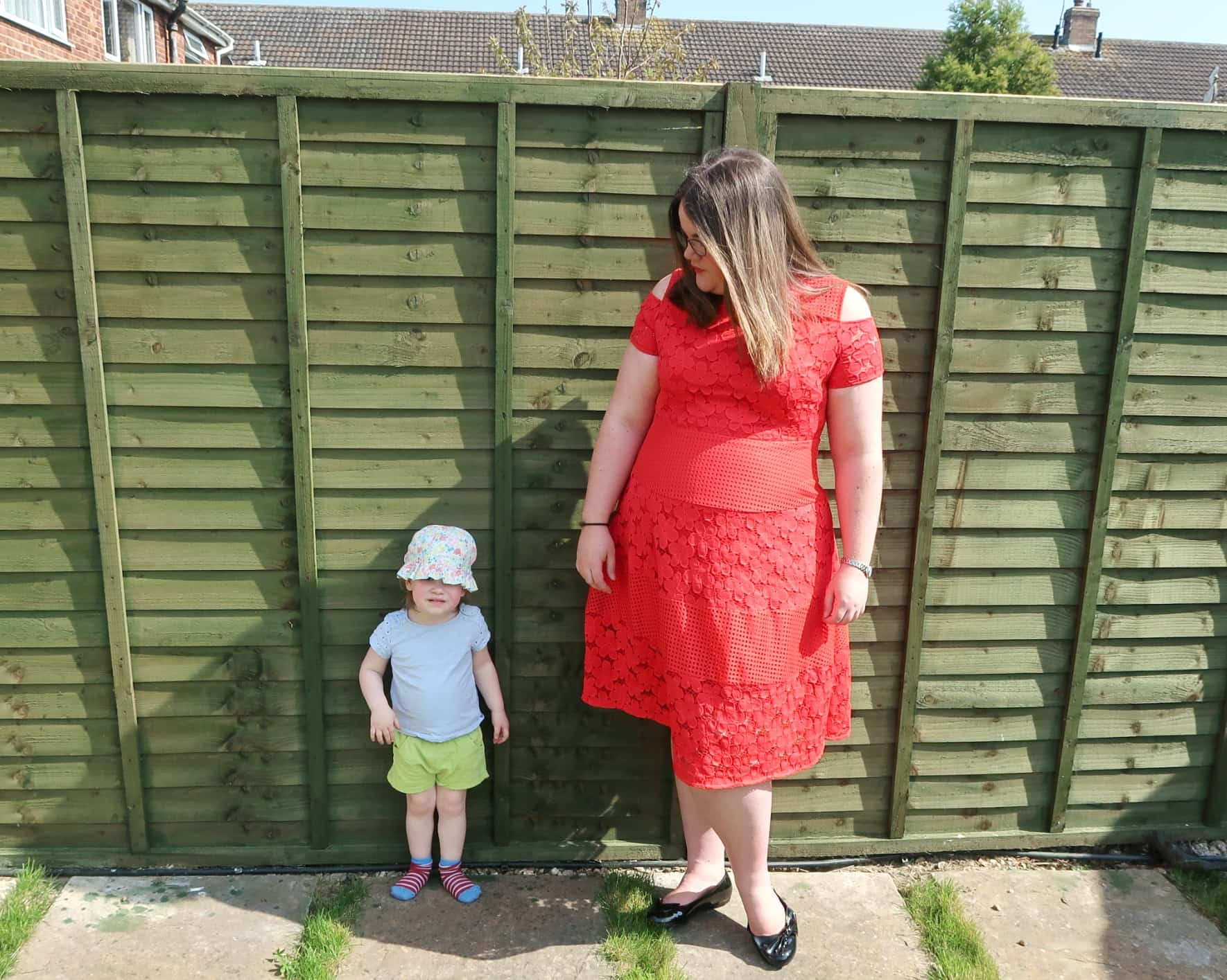 Littlest admiring my Simply Be outfit