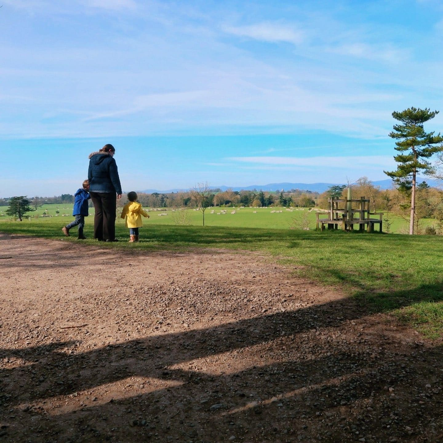 Me and my son and daughter at Croome