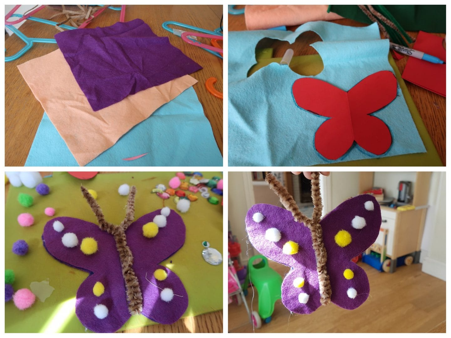 Butterfly for mobile craft