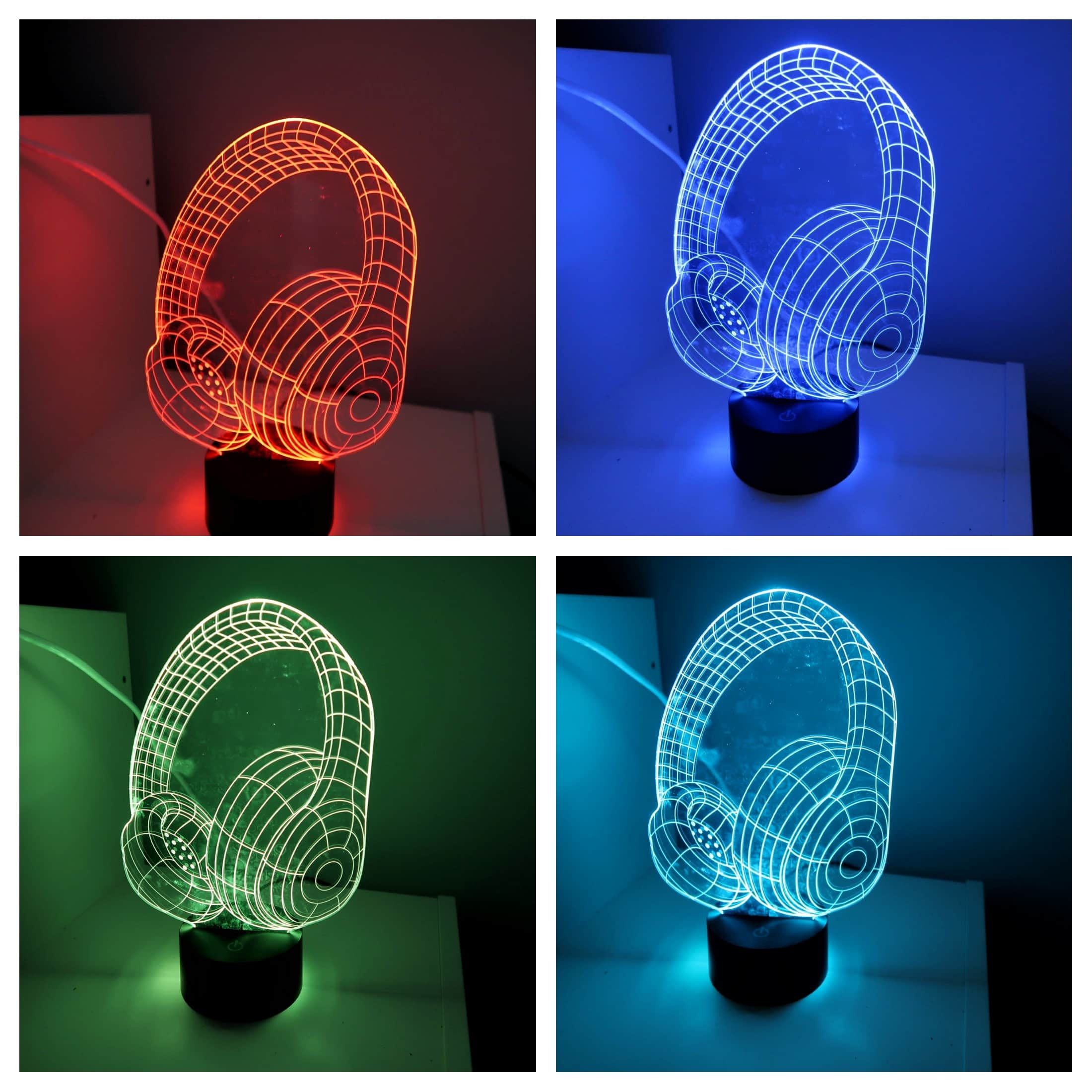 Autism friendly bedroom - colour changing headphone lamp