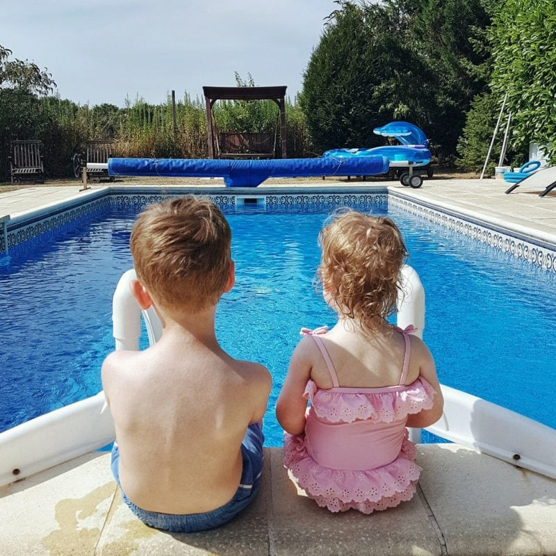 Biggest and Littlest by the pool - for self-catering holiday feature