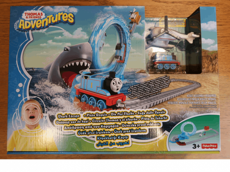Thomas and Friends Adventures Shark Escape box