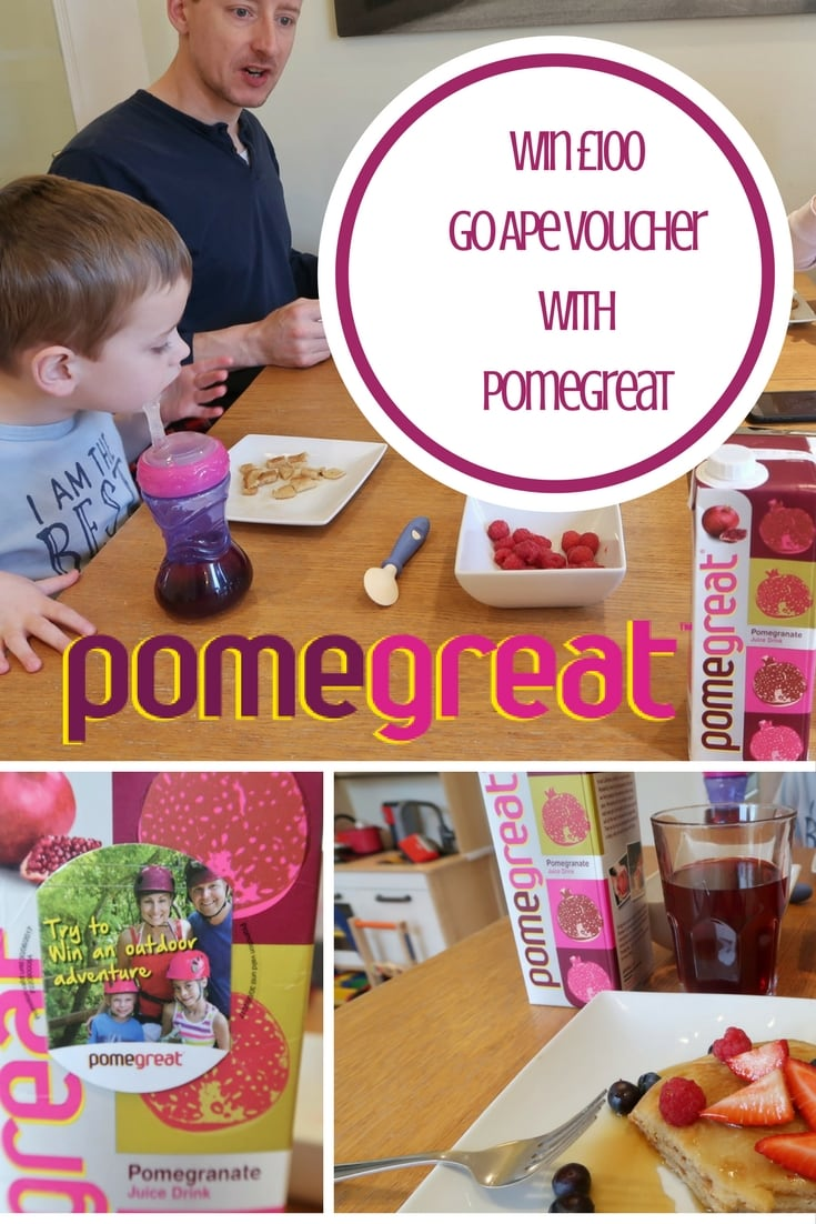 Win £100 Go Ape voucher wit Pomegreat