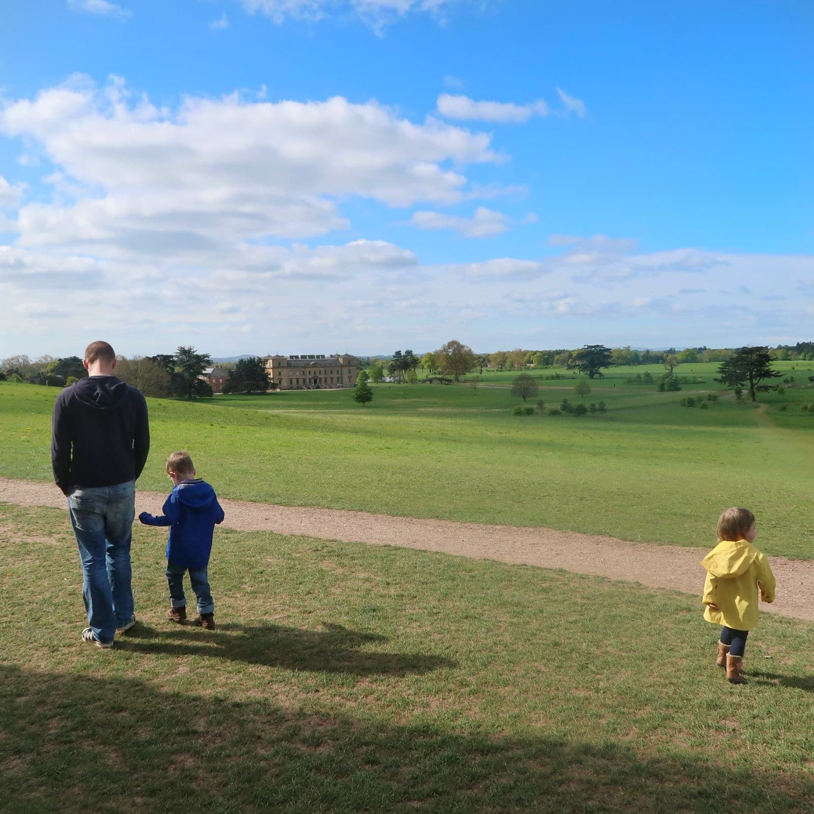 View of my family with Croome House in the background - accessible walks