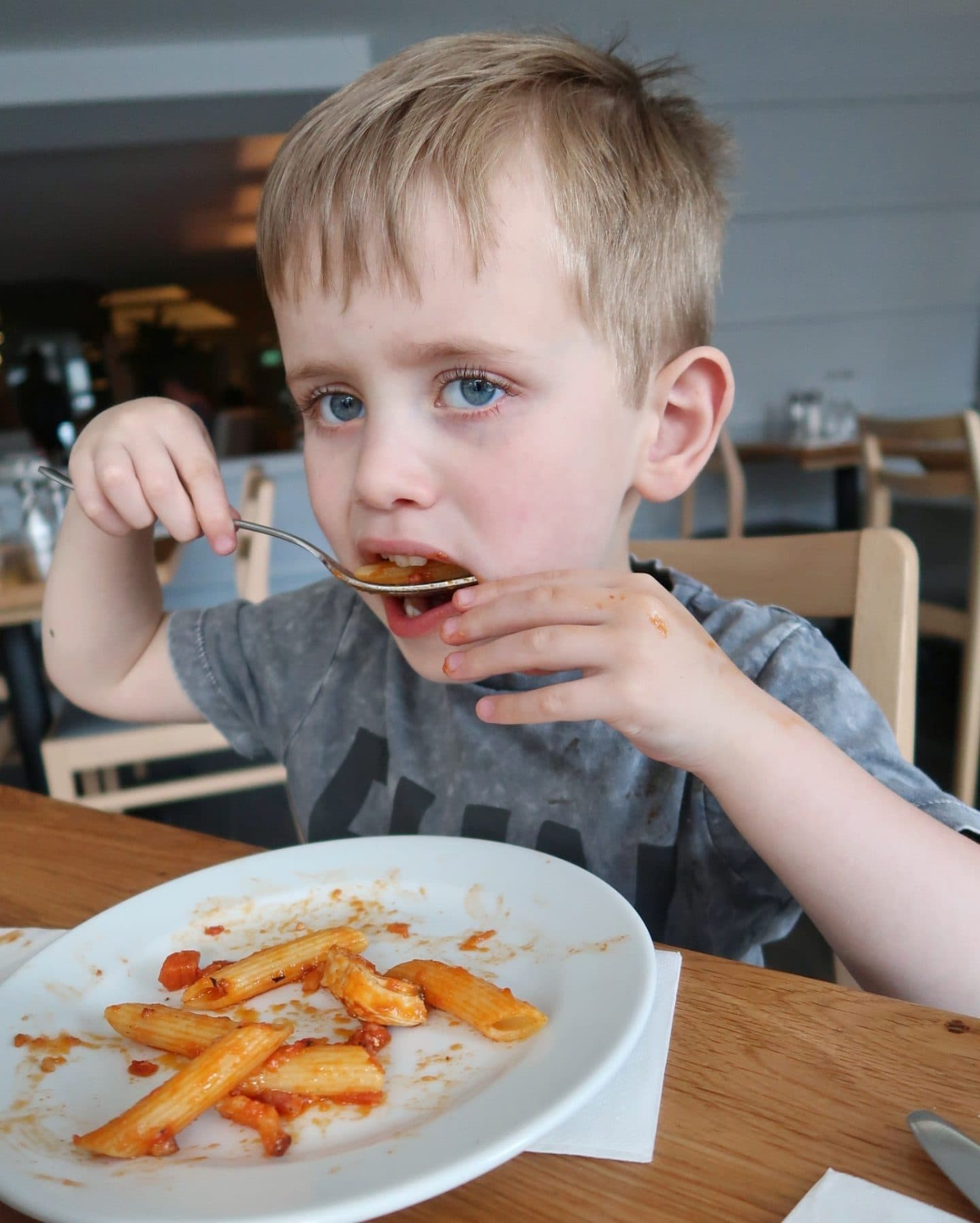 Biggest enjoying the Prezzo La Famiglia pasta sharing bowl