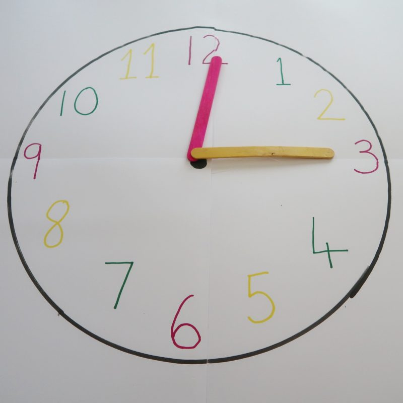 Teaching Children to Tell the Time - giant clock face