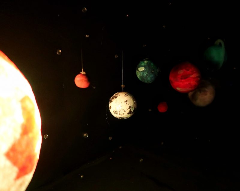 Light up model solar system