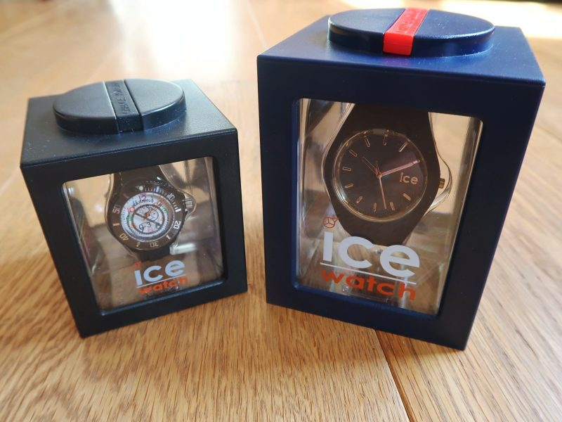 Our Ice Watches in their packaging