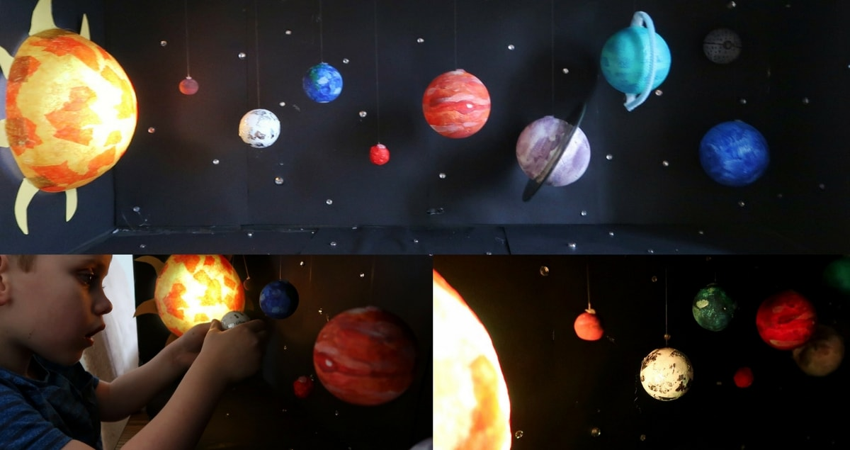 Light-up Model Solar System Craft Feature