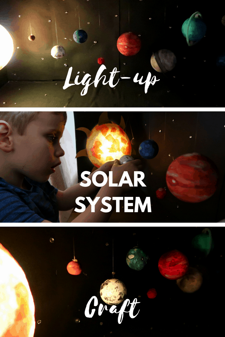 Light-up Solar System Craft - how to create a model solar system with stars, planets and a glowing sun.