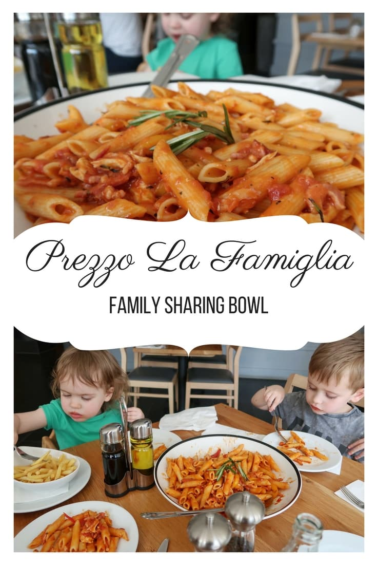Prezzo La Famiglia - a review of the Prezzo La Famiglia Pasta sharing feast. At a Prezzo restaurant near you.