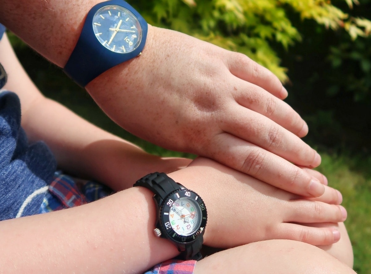Teaching Children to Tell the Time with Ice Watches Feature
