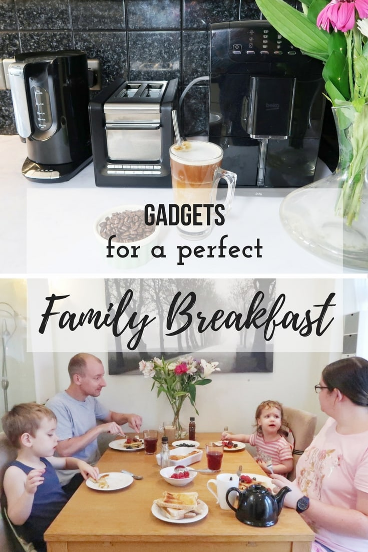 Gadgets for a perfect family breakfast - a look at the Beko Bean to Cup Coffee machine and toaster and kettle and how they can help you make the perfect family breakfast.