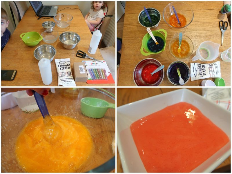 UK Slime Recipe - ingredients and method