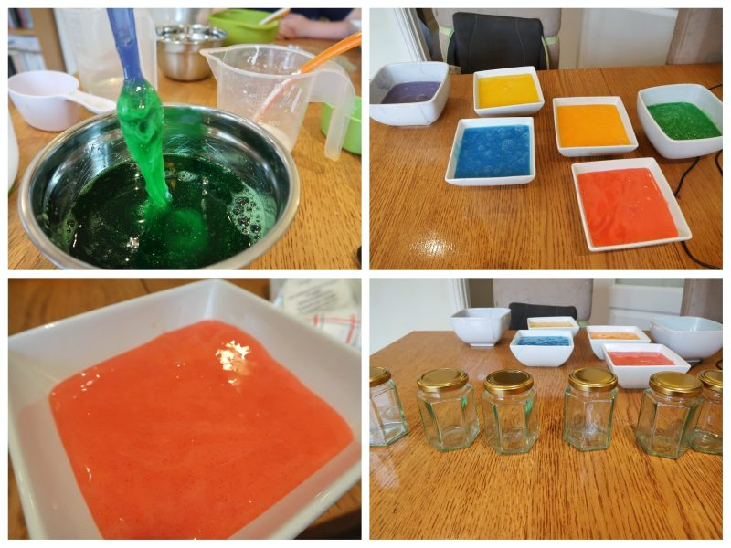 Mixing the starch - UK Slime Recipe